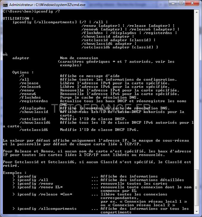 Effacer et renouveler votre adresse IP sous Windows 33