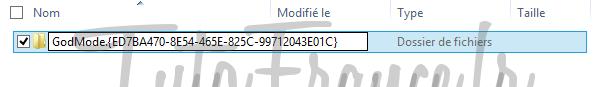 windows 7, 8  GodMode, accéder aux paramétrages systèmes Windows cachés 3