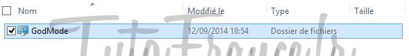 windows 7, 8  GodMode, accéder aux paramétrages systèmes Windows cachés 4