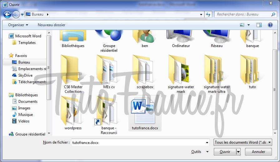 Ouvrir un document Word 2010 3