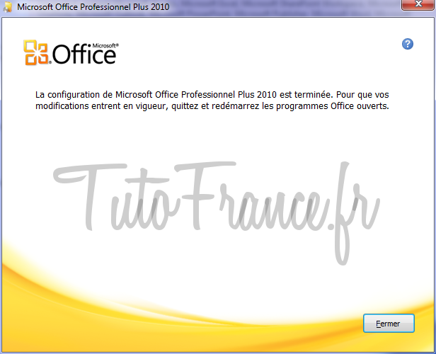 activation de Word 2010 9
