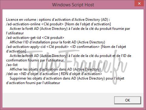 Modifier la clé windows après l'installation 10