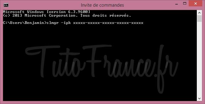 Modifier la clé windows après l'installation 3