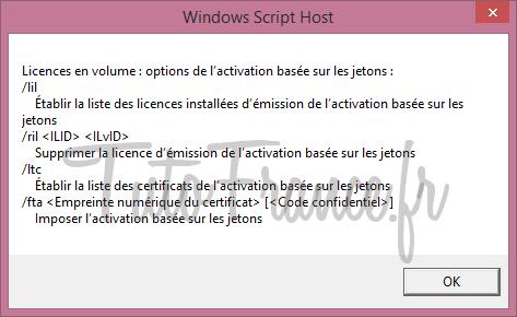 Modifier la clé windows après l'installation 8