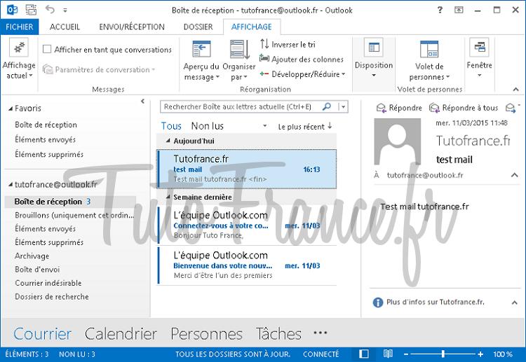 Exporter et sauvegarder les éléments Outlook vers un fichier de données Outlook (.pst) (1)
