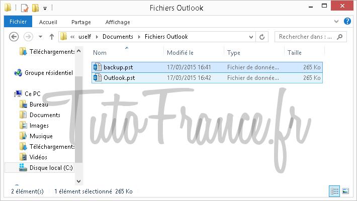 Exporter et sauvegarder les éléments Outlook vers un fichier de données Outlook (.pst) (11)