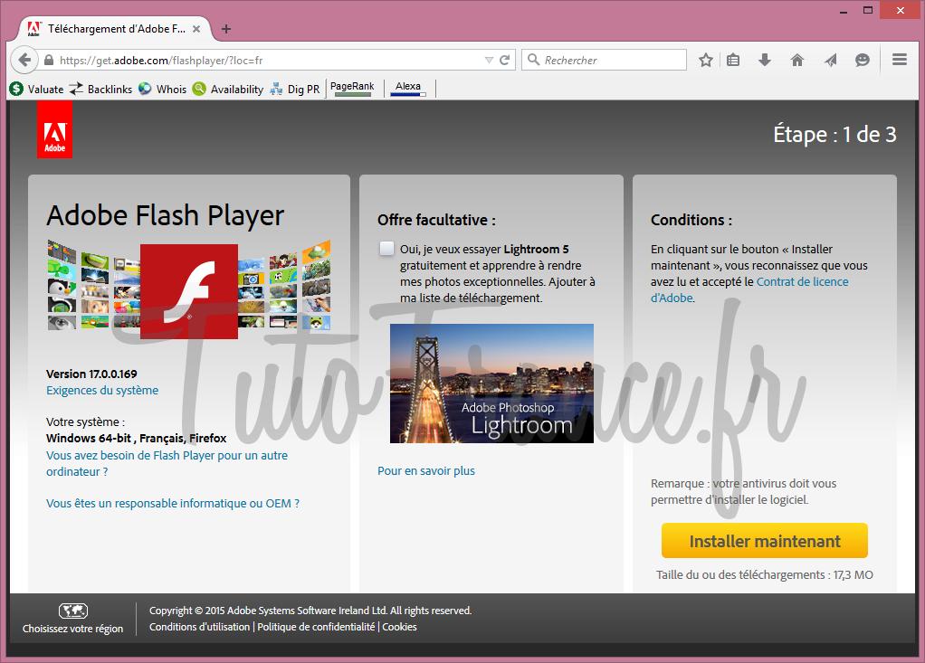 Comment mettre à jour adobe flash Player (1)