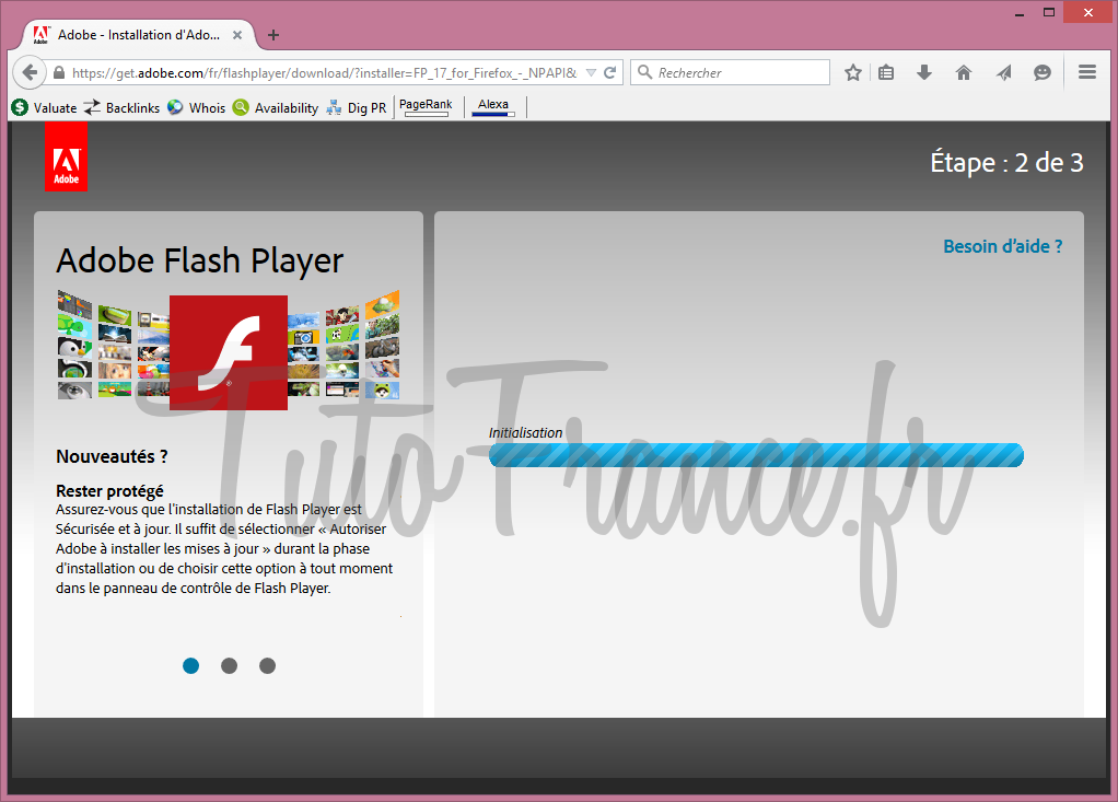 Comment mettre à jour adobe flash Player (2)