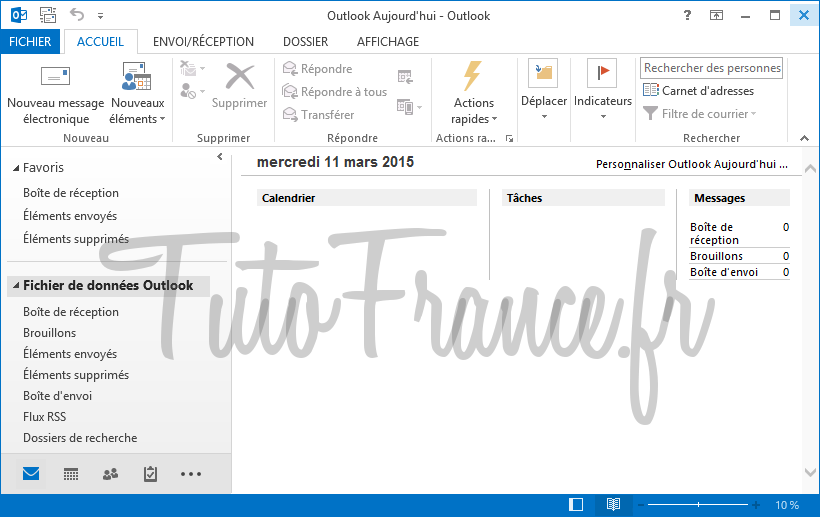 Configurer un compte mail Outlook 2013 (1)