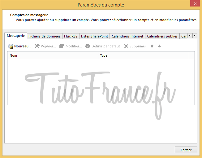 Configurer un compte mail Outlook 2013 (3)