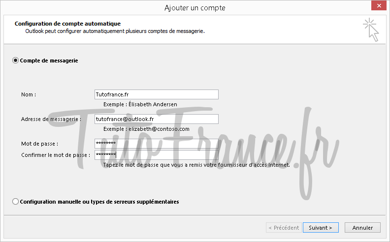 Configurer un compte mail Outlook 2013 (4)