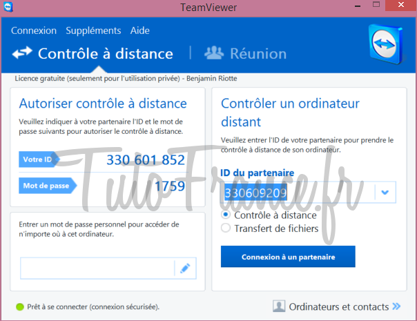 Teamviewer  comment se connecter à distance à un ordinateur (10)