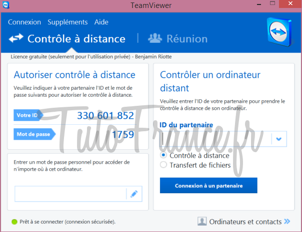 Teamviewer  comment se connecter à distance à un ordinateur (7)
