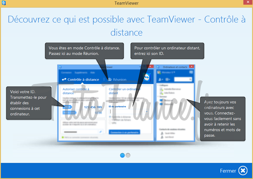 Teamviewer comment se connecter distance un - Comment connecter un ordinateur de bureau en wifi ...