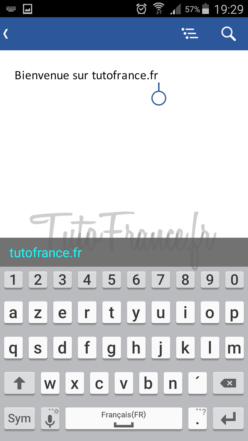 android  ouvrir, modifier un document word, excel avec Office Mobile (11)