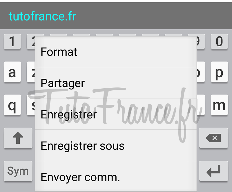 android  ouvrir, modifier un document word, excel avec Office Mobile (12)