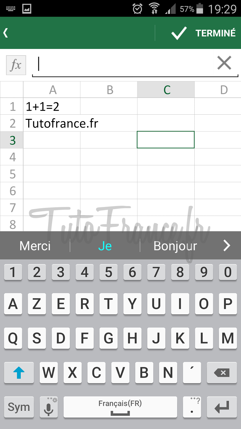 android  ouvrir, modifier un document word, excel avec Office Mobile (13)