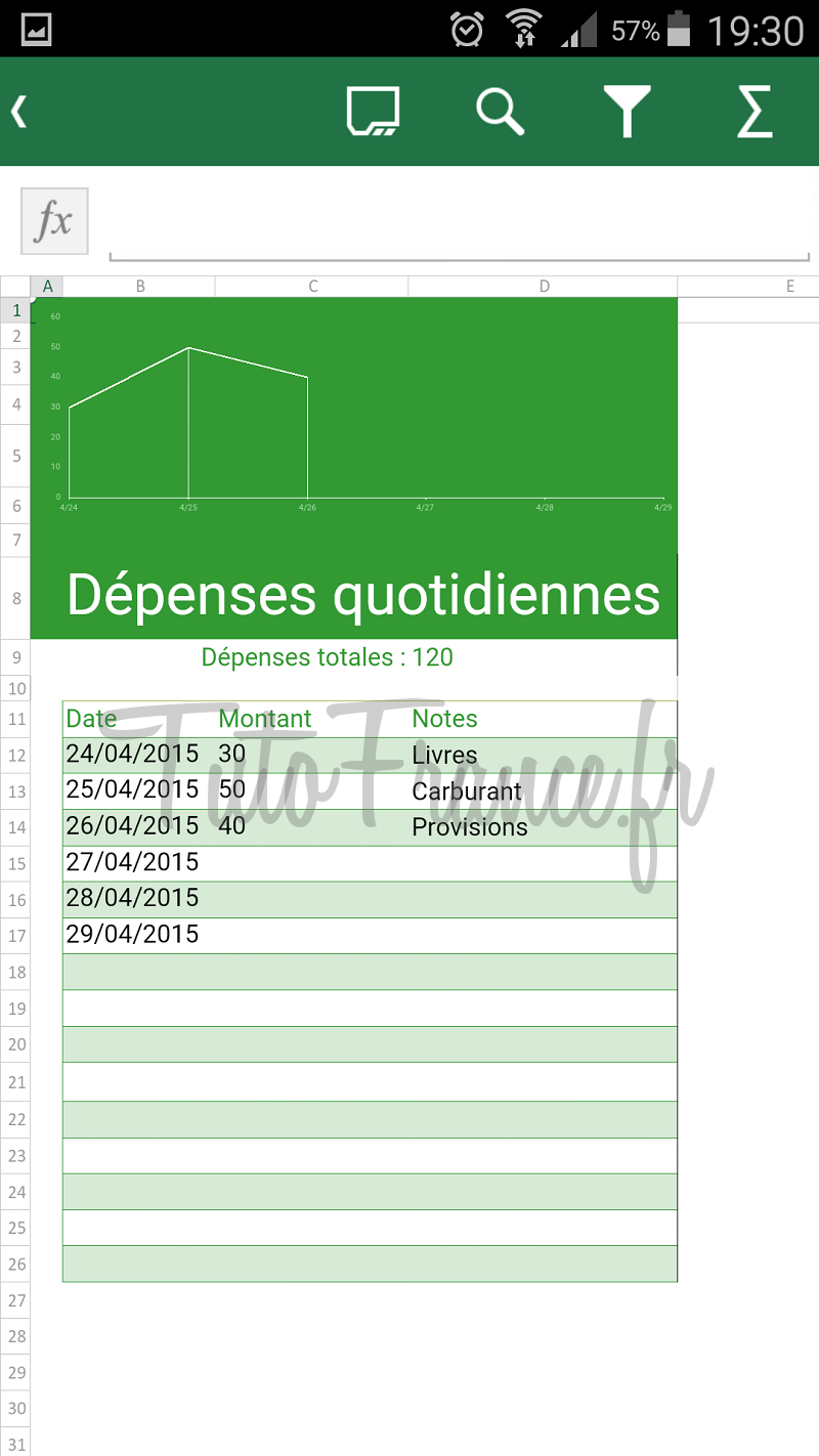 android  ouvrir, modifier un document word, excel avec Office Mobile (14)