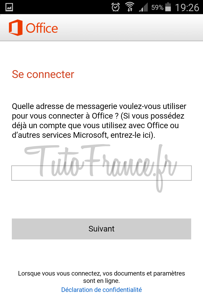 android  ouvrir, modifier un document word, excel avec Office Mobile (8)