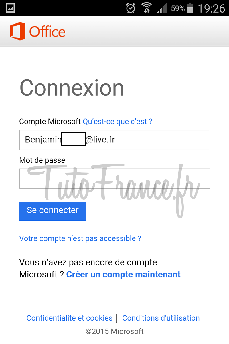 android  ouvrir, modifier un document word, excel avec Office Mobile (9)